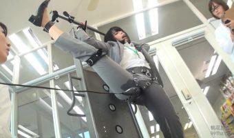 250000回転の電マ3!広げた股に電マを当てられスーツをびしょ濡れにするSOD女子社員