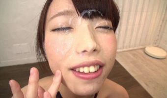 大量顔射された後の目が開けられない状態で献身的にお掃除フェラに従事する女性たち